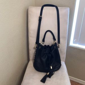 Aldo black bucket bag